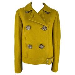 Mulberry Mustard Yellow Wool Jacket
