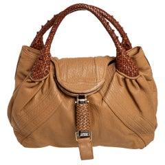 Fendi Tan/Brown Leather Spy Hobo