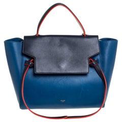 Celine Tri Color Leather Mini Belt Top Handle Bag