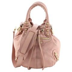 Balenciaga Pom Pon Giant Studs Bag Leather Mini