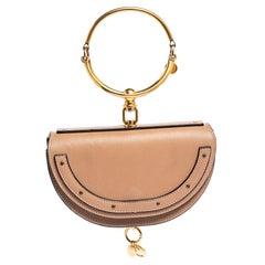 Chloe Leather Small Nile Bracelet Minaudiere Crossbody Bag