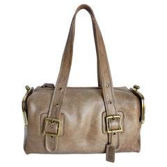 Vintage Coach Bag Bonnie Cashin RFD Mail Box Tote Putty Leather 70s Pre Creed