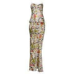 John Galliano Silk Cafe Society Top & Skirt