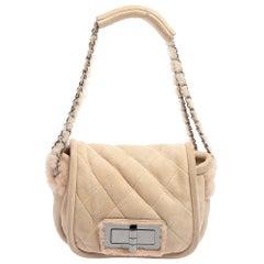 Chanel Pink Shearling Flap Bag