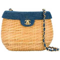 Chanel Vintage Basket Crossbody Bag