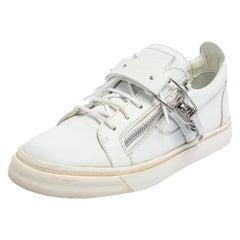 Giuseppe Zanotti White Leather Ski Sneakers Size 42