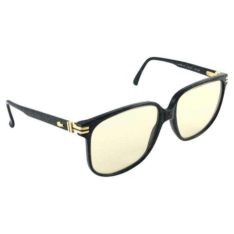 New Vintage Lacoste 171 Oversized Frame Changeable Lenses 1970 Sunglasses For Sale