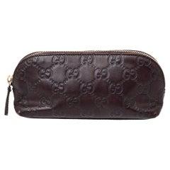 Gucci Brown Guccissima Leather Pouch