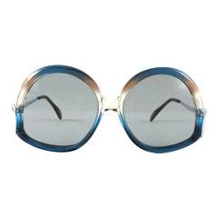 Vintage Rare Menrad M508 Funky Multicolor Blue & Silver 1970 Sunglasses