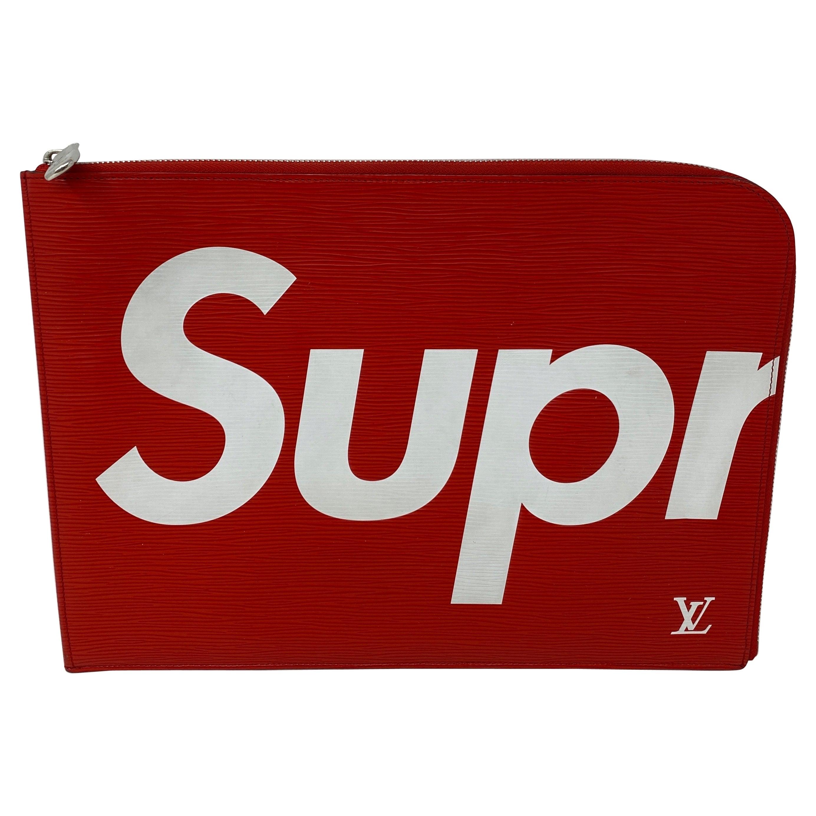 Louis Vuitton Red Supreme Clutch