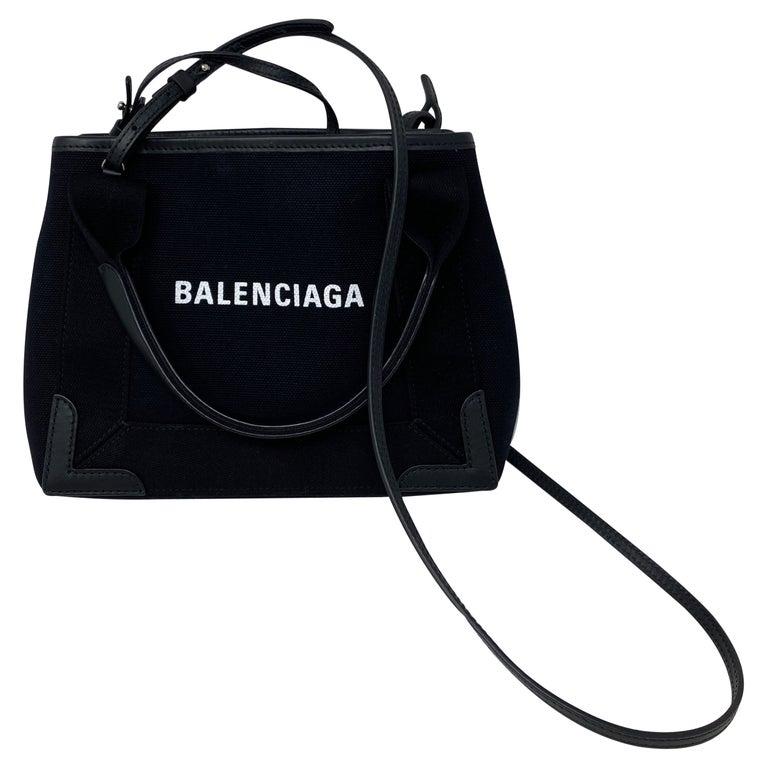 Balenciaga Black Canvas Cotton Bag  For Sale