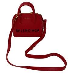 Balenciaga Red Leather Mini Bag
