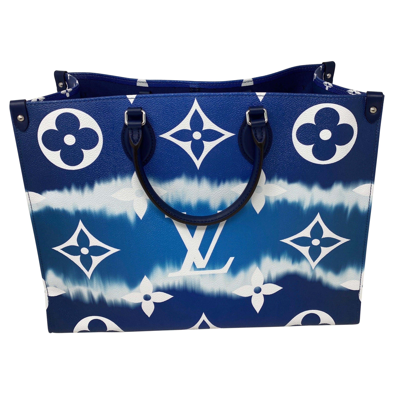 Louis Vuitton On The Go Blue Escale Bag