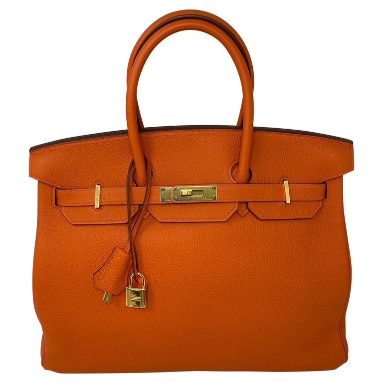 Hermes Birkin Feu Orange 35 Bag For Sale