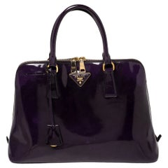 Prada Purple Patent Leather Promenade Satchel