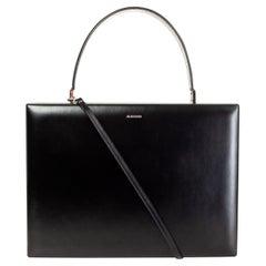 JIL SANDER black leather CASE MEDIUM Shoulder Bag