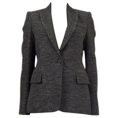 STELLA MCCARTNEY grey wool LUREX SINGLE BUTTON Blazer Jacket 40 S