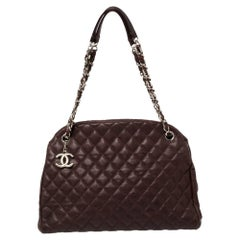 Chanel  Quilted Caviar Leather Medium Just Mademoiselle Bowler Bag