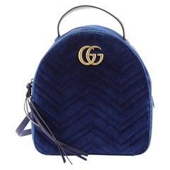 Gucci GG Marmont Backpack Matelasse Velvet Small