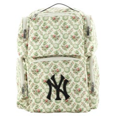 Gucci MLB Front Pocket Backpack Printed Satin with Applique Medium