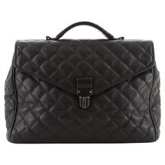 Bottega Veneta Envelope Briefcase Quilted Leather Large