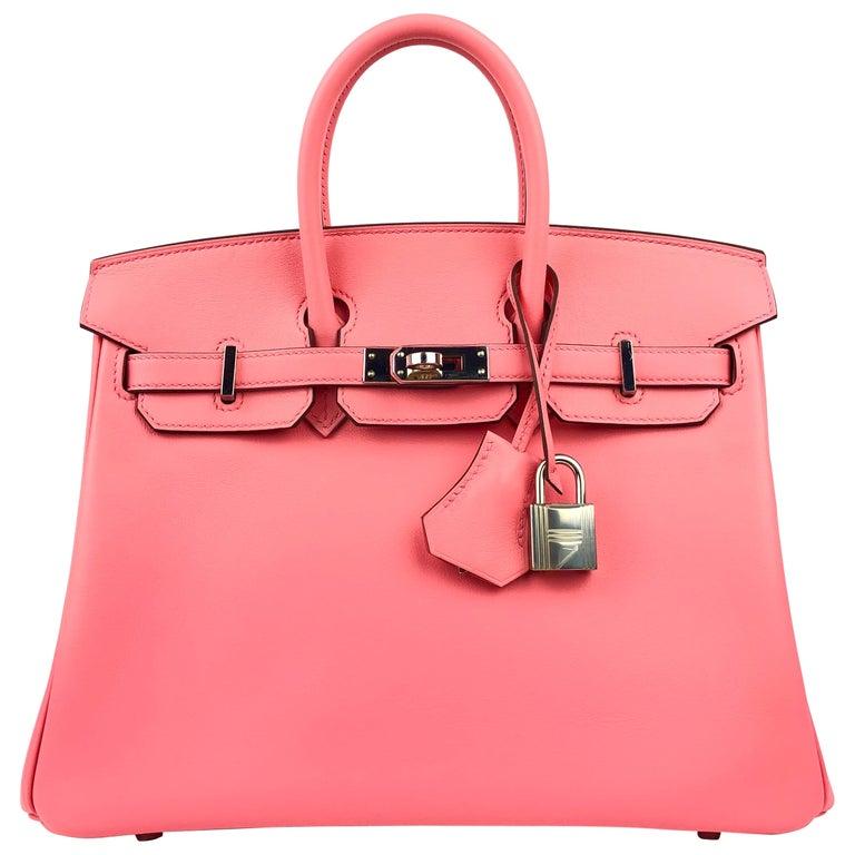 Hermes Birkin 25 Rose D'ete Pink Palladium Hardware 2020