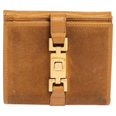 Gucci Beige Suede And Leather Jackie Wallet