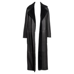Hermes by Martin Margiela reversible grey shearling maxi coat, fw 1999