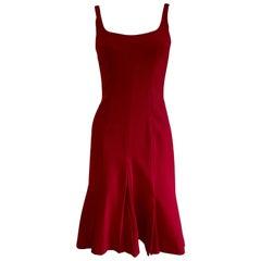 Dolce Gabbana DG Crimson Red Italian wool dress