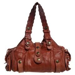 Chloe Brown Leather Silverado Satchel