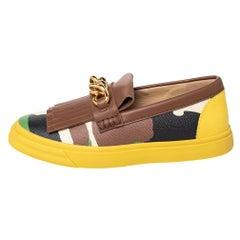 Giuseppe Zanotti Camouflage Leather Detail Slip On Slip On Sneakers Size 39