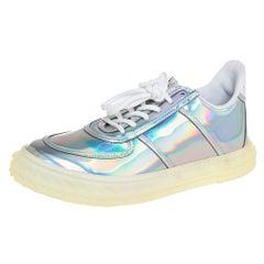 Giuseppe Zanotti Multicolor Iridescent Leather Blabber Low Top Sneaker Size 39