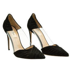 WOMENS DESIGNER Valentino Suede And Clear Pointed Shoe