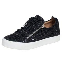 Giuseppe Zanotti Black Glitter Frankie Sneakers Size 43
