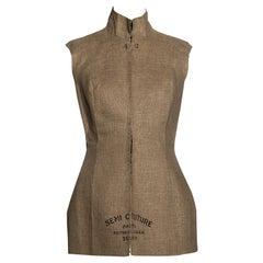 Martin Margiela linen semi-couture stockman corset, fw 1997