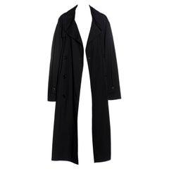 Martin Margiela black oversized size 74 trench coat, ss 2000