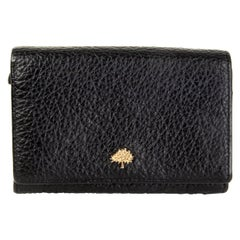 MULBERRY black grained leather SMALL CONTINENTAL Wallet