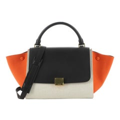 Celine Trapeze Bag Canvas with Leather Small
