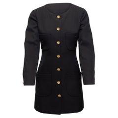 Chanel Black Boutique Longline Wool Blazer