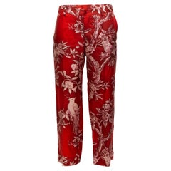 F.R.S. Red & White For Restless Sleepers Silk Printed Pants