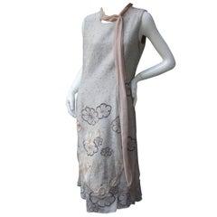 Stylish Woven Applique Illusion Design Sheath Dress US Size 12