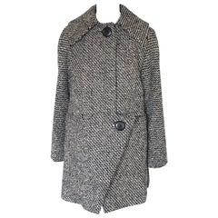 Pauline Trigere 1960s 2-Piece Tweed Coat and Dress Set