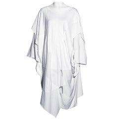 Comme des Garcons white oversized patchwork t-shirt dress, ss 1983