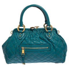 Marc Jacobs Green Quilted Leather Stam Satchel