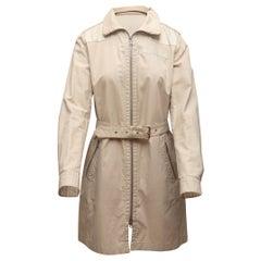 Prada Beige Belted Trench Coat