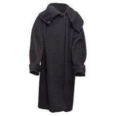 Marina Rinaldi Black Virgin Wool & Cashmere Coat