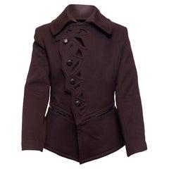 Jean Paul Gaultier Dark Maroon Femme Cutout Jacket