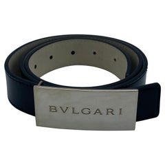 Bulgari Leather Belt, Size 80/32
