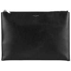 Saint Laurent Zip Pouch Leather Medium
