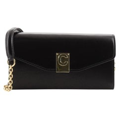 Celine C Wallet on Chain Leather